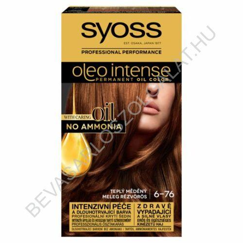 Syoss Oleo Intense Hajfesték 6-76 Meleg Rézvörös