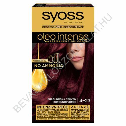 Syoss Oleo Intense Hajfesték 4-23 Burgundi Vörös