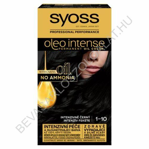Syoss Oleo Intense Hajfesték 1-10 Intenzív Fekete