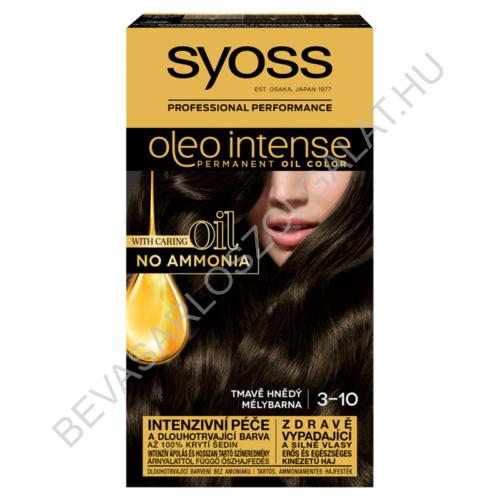 Syoss Oleo Intense Hajfesték 3-10 Mélybarna