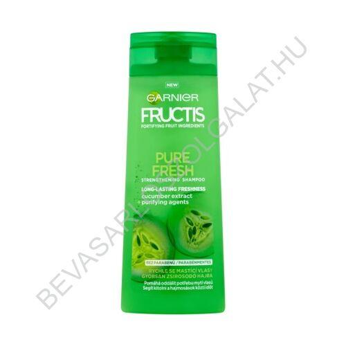 Garnier Fructis Hajerősítő Sampon Pure Fresh Gyorsan Zsírosodó Hajra 250 ml