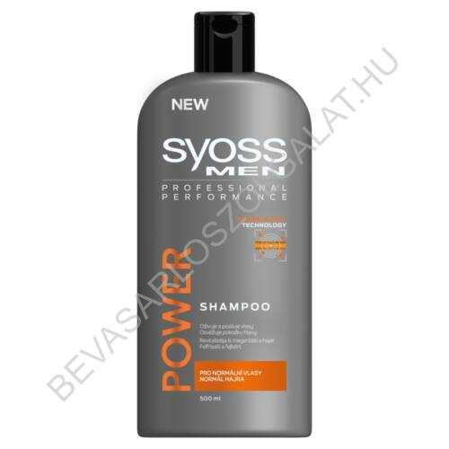 Syoss Men Power Sampon Normál Hajra 500 ml