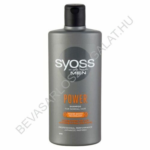 Syoss Men Power Sampon Normál Hajra 500 ml