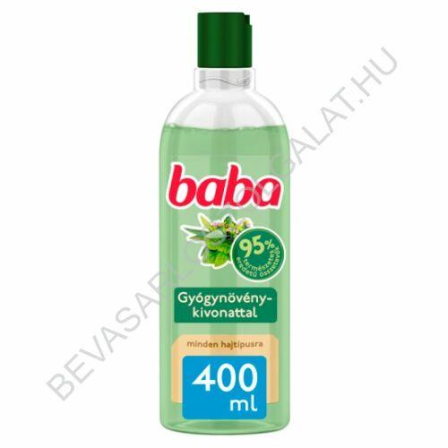Baba Sampon Minden Hajtípusra Gyógynövényekkel 400 ml