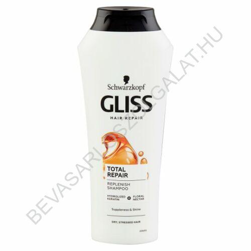 Schwarzkopf Gliss Kur Total Repair Sampon Száraz, Sérült Hajra 250 ml