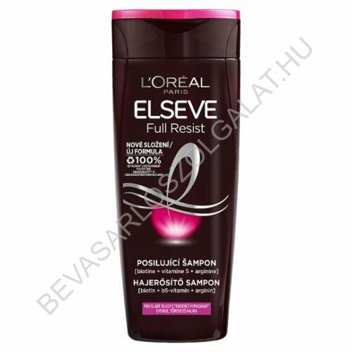 L'Oréal Paris Elseve Arginine Resist X3 Hajerősítő Sampon Gyenge, Hullásra Hajlamos Hajra 250 ml