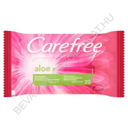 Carefree Aloe Intim Törlőkendő 20 db