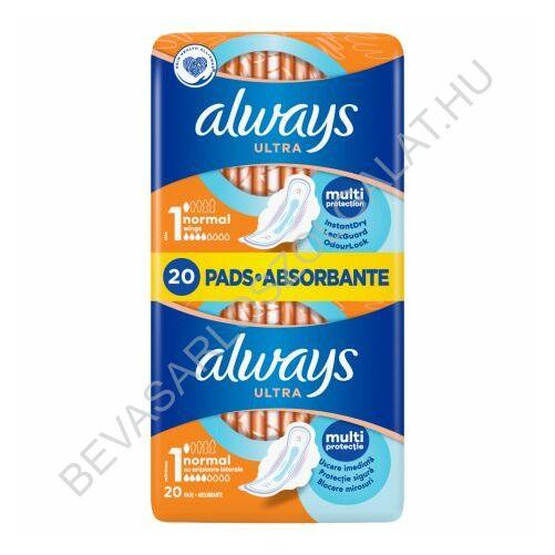 Always Ultra Normal Plus Egészségügyi Betét duopack 2x10 db