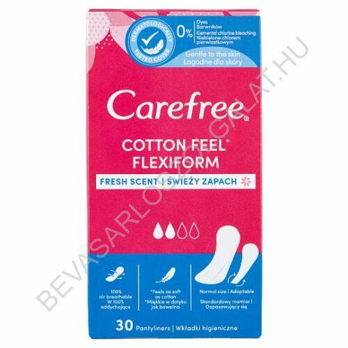 Carefree Cotton Flexiform Friss Illat tisztasági betét 30 db