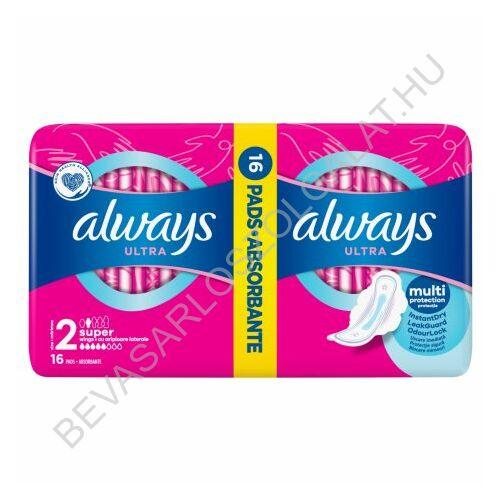 Always Ultra Super Plus Egészségügyi Betét duopack 2x8 db