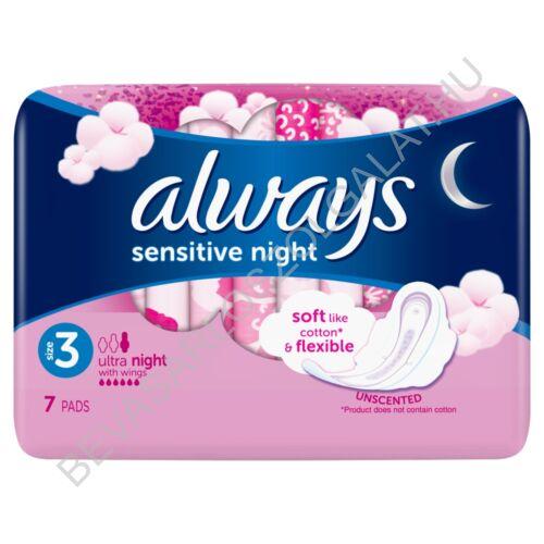 Always Sensitive Ultra Night Egészségügyi Betét 7 db