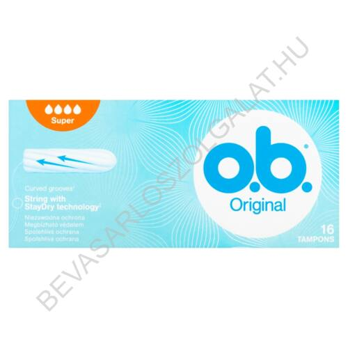 O.B. Tampon Original Super Plus 16 db