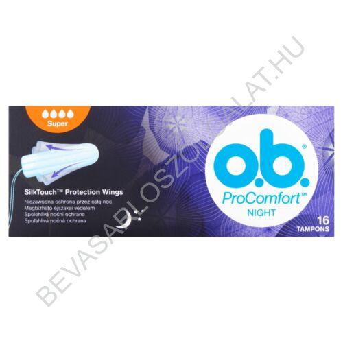 O.B. Tampon ProComfort Night Super 16 db