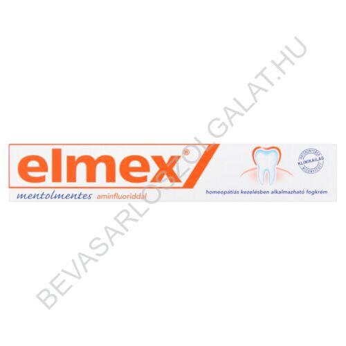 Elmex Mentolmentes Aminfluoriddal Fogkrém 75 ml