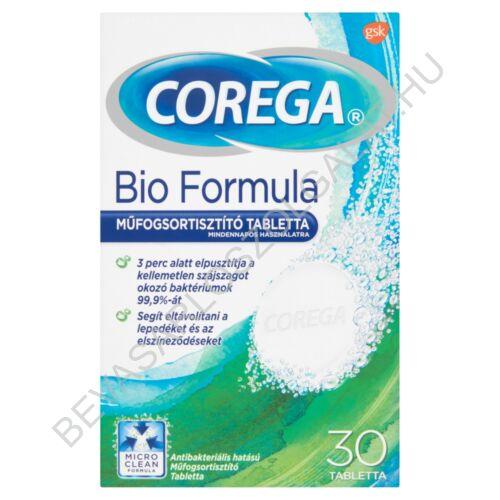 Corega Bio Formula Műfogsortisztító Tabletta Mindennapos Használatra 30 db