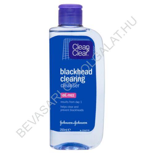 Clean&Clear Blackhead Clearing Cleanser Mitesszer Eltávolító Tonik 200 ml