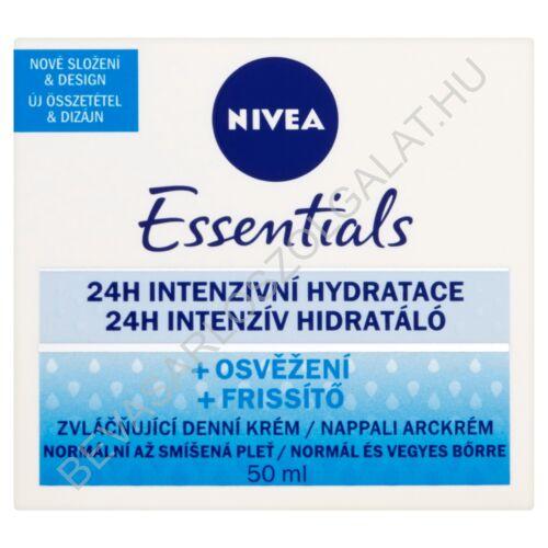 Nivea Essentials 24h Intenzív Hidratáló Nappali Arckrém Normál- és Vegyes Bőrre 50 ml