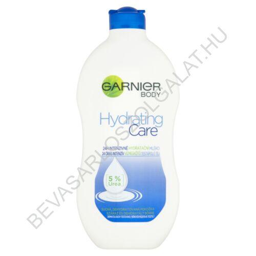 Garnier Hydrating Care 24 Órás Intenzív Vízmegkötő Testápoló Tej Száraz és Dehidratált Bőrre 400 ml