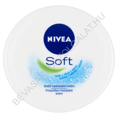 Nivea Soft Frissítően Hidratáló Krém tégelyes 200 ml