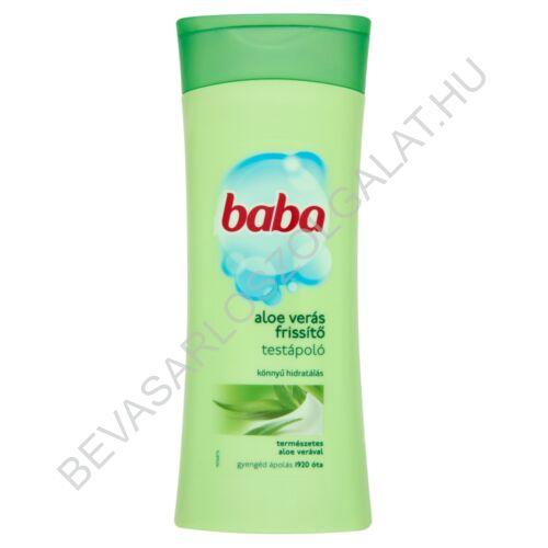Baba Aloe Verás Frissítő Testápoló 400 ml