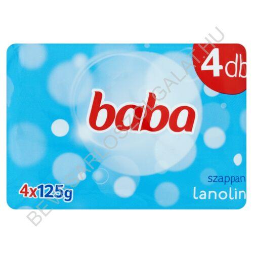 Baba Szappan Lanolinos 4x125 g