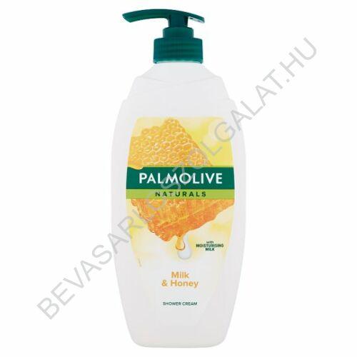 Palmolive Naturlas Milk & Honey Tusfürdő Méz Kivonattal és Hidratáló Tejjel pumpás 750 ml