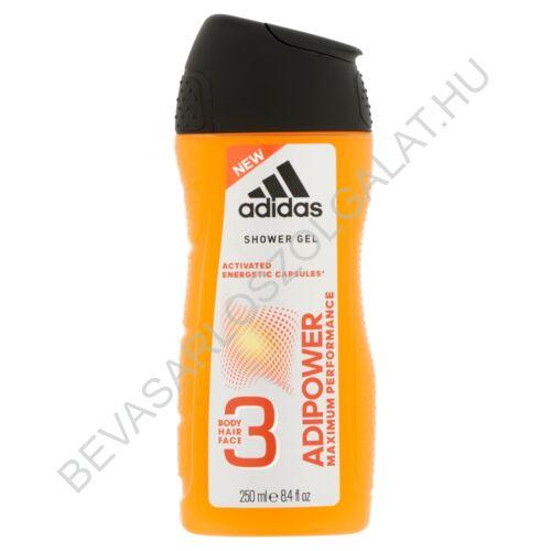 Adidas Férfi Tusfürdő 3in1 Adipower 250 ml