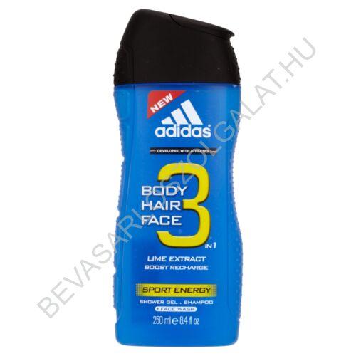 Adidas Férfi Tusfürdő 3in1 Sport Energy 250 ml