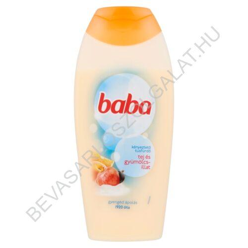 Baba Tusfürdő Tej és Gyümölcsillat 400 ml