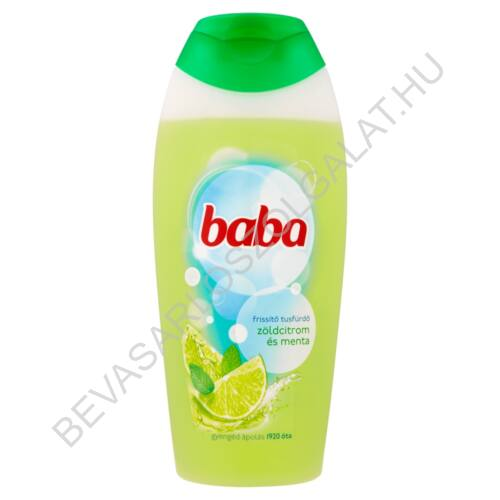 Baba Tusfürdő Zöldcitrom és Menta 400 ml