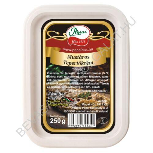 Pápai Hús Mustáros Tepertőkrém dobozos 250 g