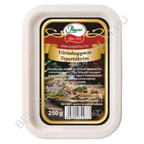 Pápai Hús Vöröshagymás Tepertőkrém dobozos 250 g