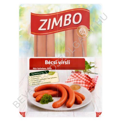 Zimbo Bécsi Sertés Virsli 2x4 db, 2x200 g=400 g