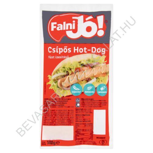 Sága Falni Jó! füst ízesítésű csípős hot-dog virsli 4 db, 140 g (#20)