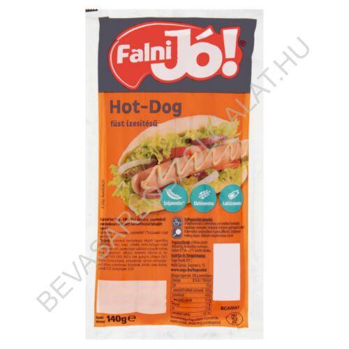 Sága Falni Jó! füst ízesítésű hot-dog virsli 4 db, 140 g (#20)