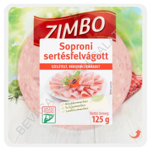 Zimbo Soproni Sertésfelvágott szeletelt 125 g