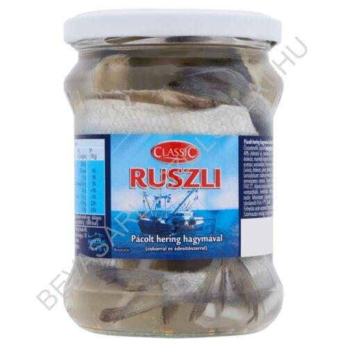 Classic Ruszli Pácolt Hering Hagymával üveges 400/250 g