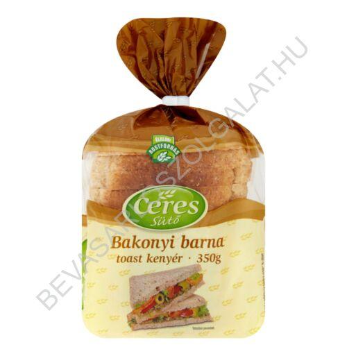 Ceres Sütő Bakonyi Barna Toast Kenyér szeletelt 350 g