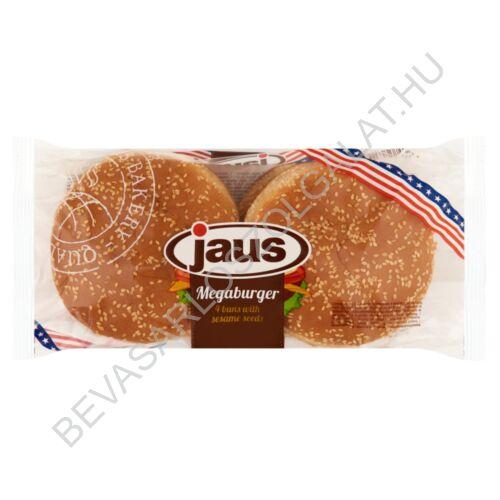 Jaus Megaburger Szezámmagos Hamburger Zsemle 4 db, 300 g
