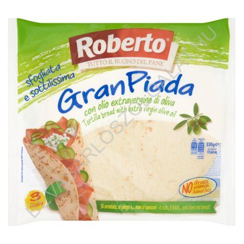 Roberto Gran Piada Lepénykenyér Búzalisztből Extra Szűz Olívaolajjal 3x110 g=330 g