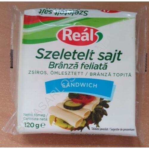 Reál Szeletelt Sajt (Lapka Sajt) Sandwich 120 g (#48)