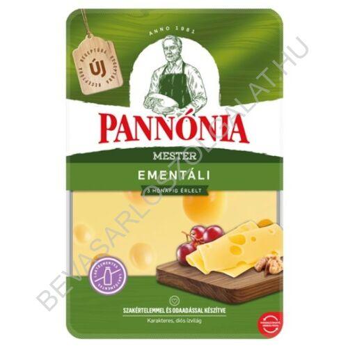 Pannónia Mester Ementáli szeletelt, zsíros, kemény, erjedési lyukas sajt 125 g