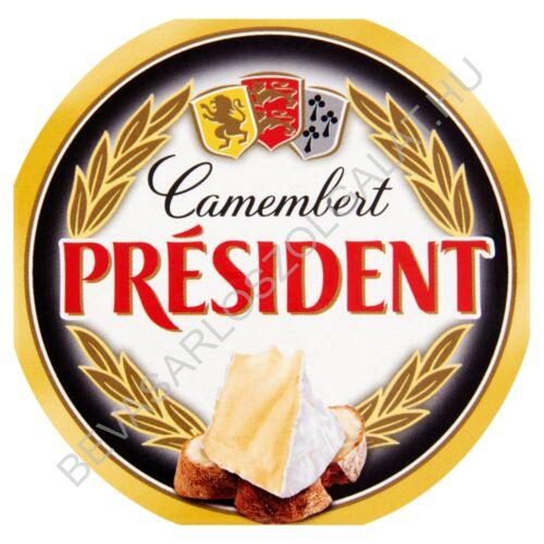 Président Camembert Sajt Natúr 120 g