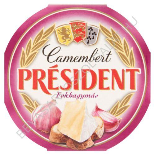 Président Camembert Sajt Fokhagymás 120 g
