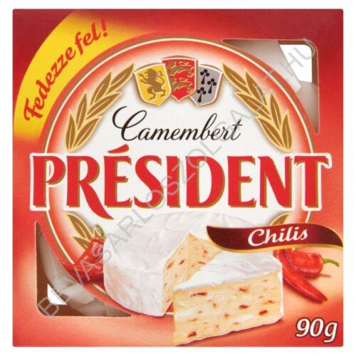 Président Camembert Sajt Chilis 90 g
