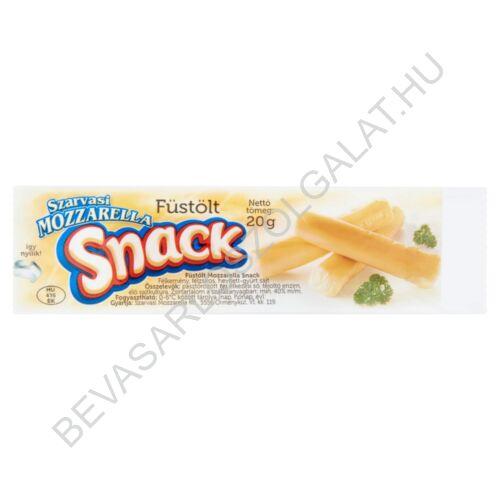 Szarvasi félkemény, félzsíros, füstölt mozzarella sajt snack 20 g