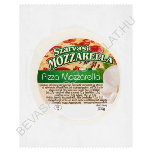 Szarvasi Pizza Mozzarella Sajt Natúr 200 g