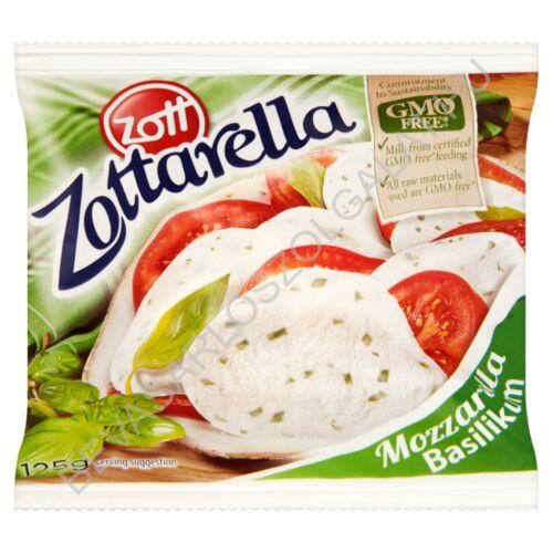 Zott Zottarella Basilikum Mozzarella Sajt Lében zacskós 200/125 g (#10)