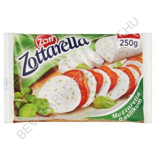 Zott Zottarella Basilikum Mozzarella Sajt Lében zacskós 400/250 g