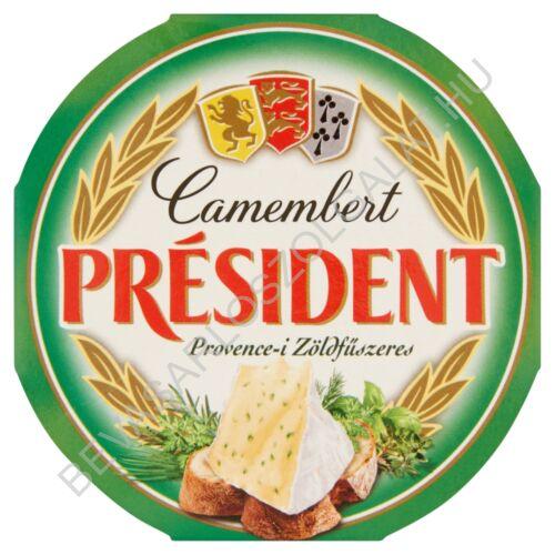 Président Camembert Sajt Provence-i Zöldfűszeres 120 g